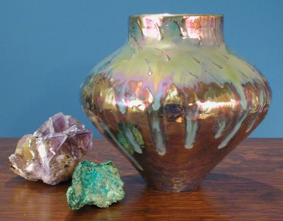 [Iridescent Pottery by Paul J. Katrich, 0443]