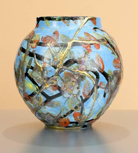 [Iridescent Pottery by Paul J. Katrich (1073)]