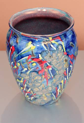 [Iridescent Pottery by Paul J. Katrich (1380)]