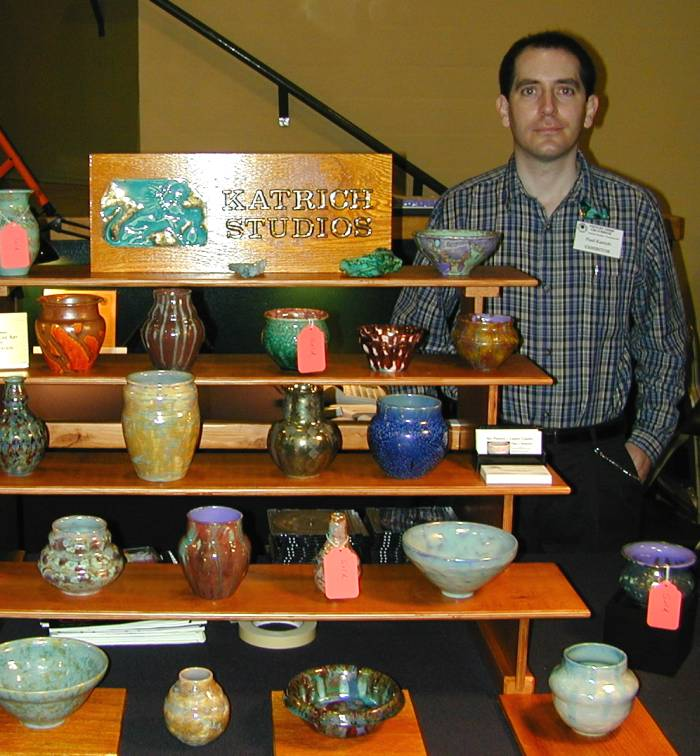 [Paul J. Katrich at Pottery Show California in 2001]