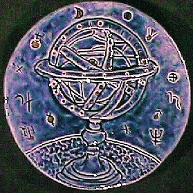 [Astral Globe sculpture by Paul J. Katrich]