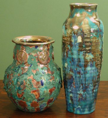 [Iridescent Pottery by Paul J. Katrich (0371 & 0370)]