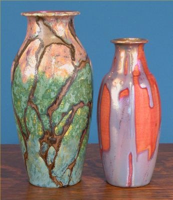 Iridescent Pottery by Paul J. Katrich, 0589 and 0580