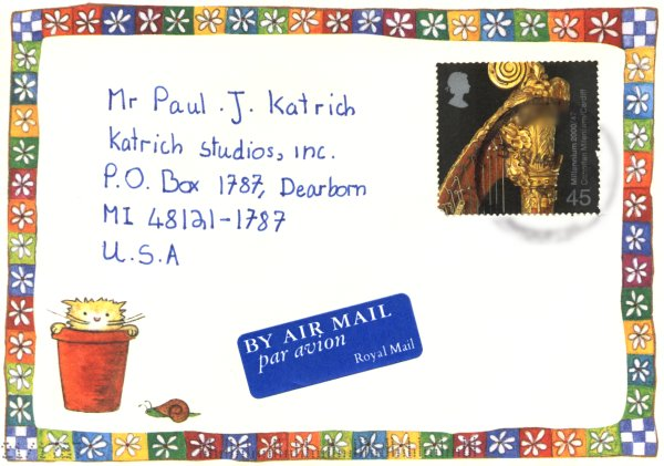 [Letter from Katy in England to Paul J. Katrich]