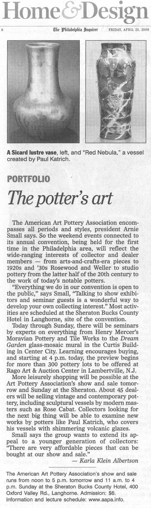 2008 AAPA Show - Philadelphia Enquirer