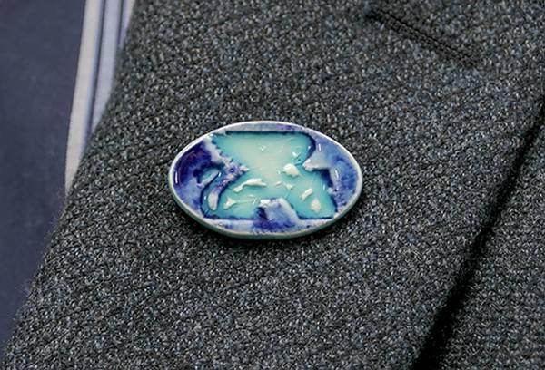 [Lapis-blue lapel pin by Paul J. Katrich (Pin-blue)]