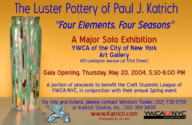 Ad for Solo Show in NYC; Gala Opening on May 20, 2004
